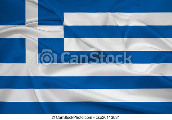 Waving Greece Flag - csp20113831