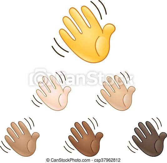 Waving hand sign emoji - csp37962812
