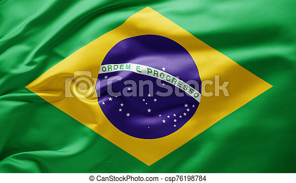 Waving national flag of Brazil - csp76198784