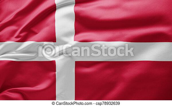 Waving national flag of Denmark - csp78932639