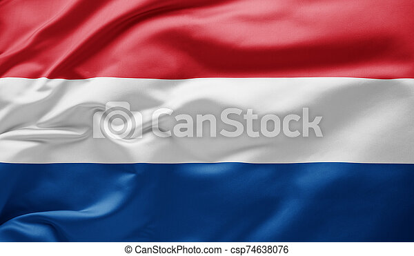 Waving national flag of the Netherlands - csp74638076