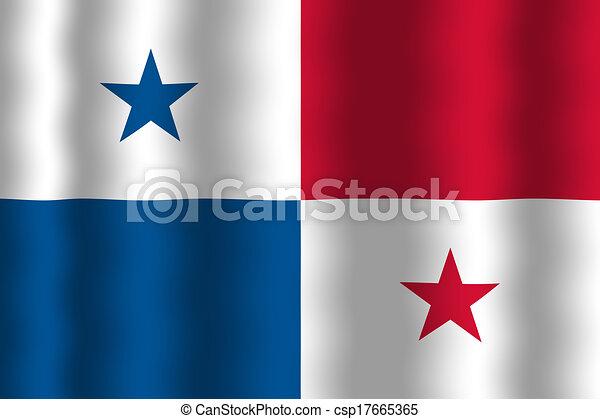 Waving Panama Flag Stock Illustration Search Clip Art Drawings - Panama flag