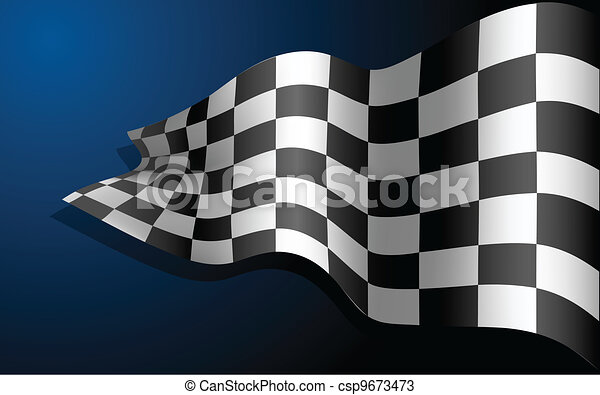 Waving Race Flag - csp9673473