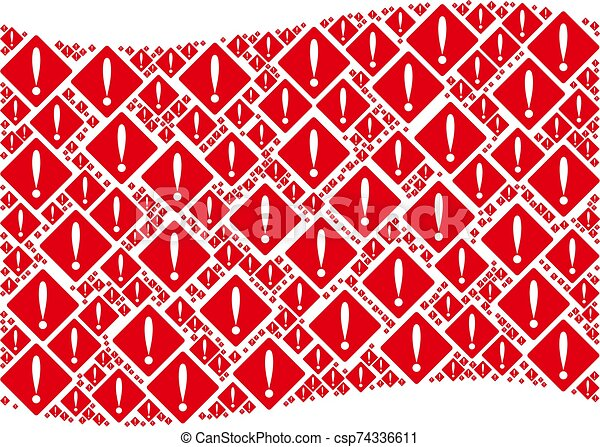 Waving Red Flag Pattern of Problem Items - csp74336611