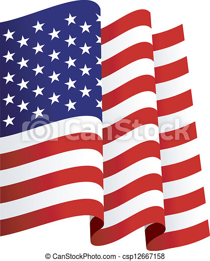 waving u s flag isolated vector illustrations clipart vector rh canstockphoto co uk American Flag WV Vector Clip Art us flag clipart vector