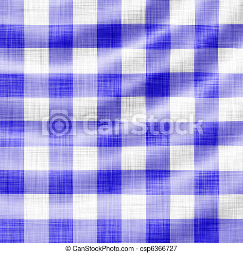 wavy blue picnic cloth  - csp6366727