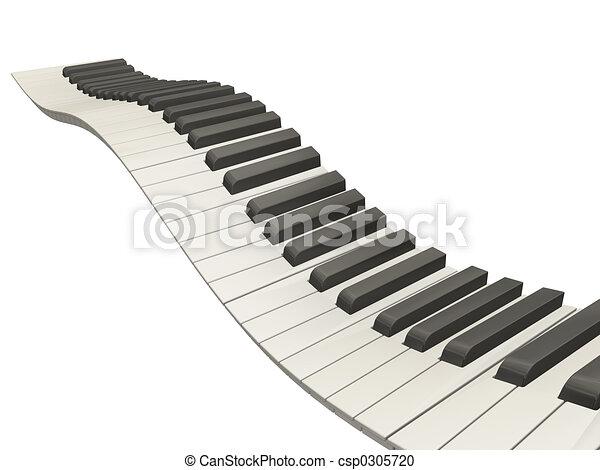 Wavy piano keys - csp0305720