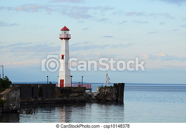 Wawatam Lighthouse in St. Ignace Michigan - csp10148378