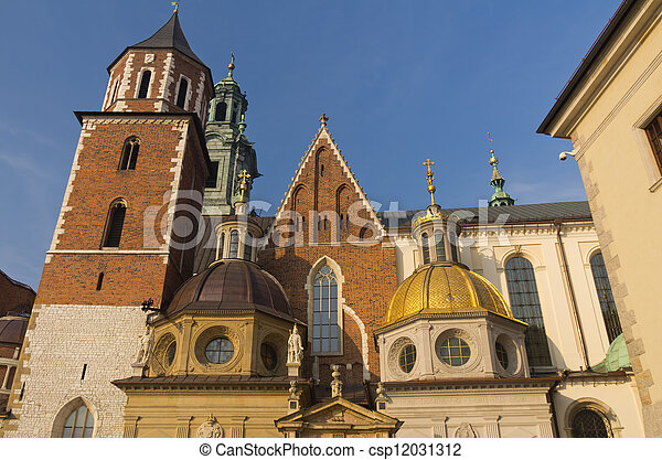 Wawel cathedral in Krakow, Poland - csp12031312