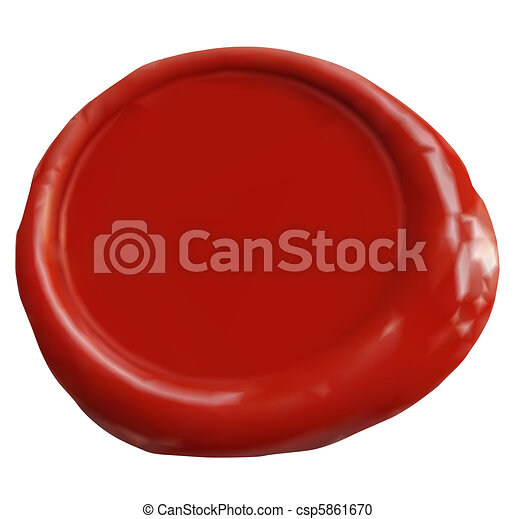 Wax Seal. Vector - csp5861670