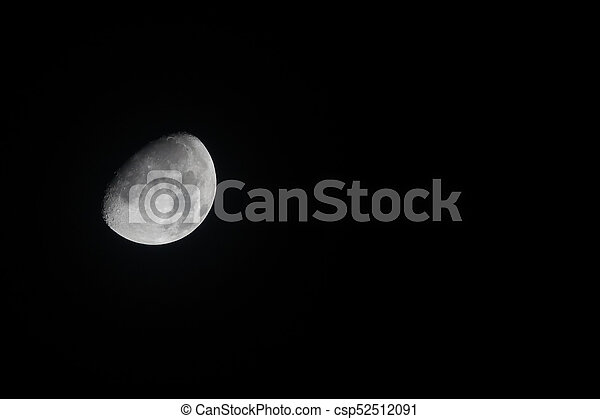 Waxing Gibbous Moon 30 October 2017 Landscape - csp52512091