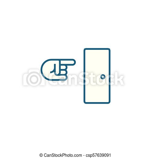 Way out linear icon concept. Way out line vector sign, symbol, illustration. - csp57639091