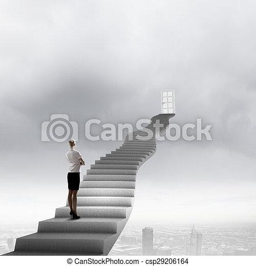 Way to success - csp29206164