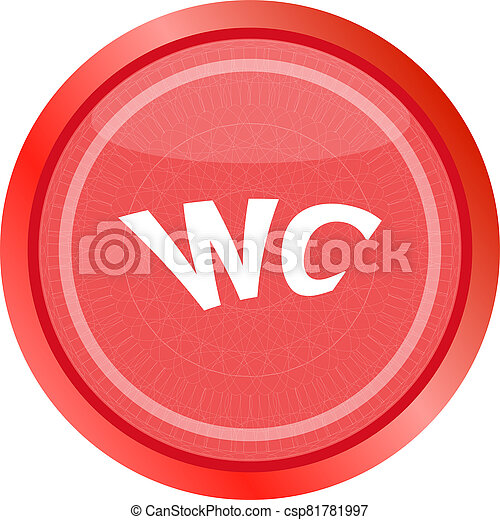 wc icon, web button isolated on white - csp81781997