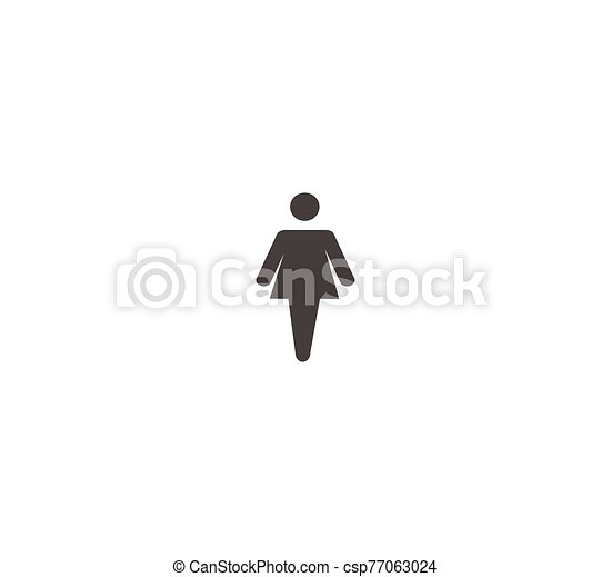 Wc, restroom - vector symbol isolated - csp77063024