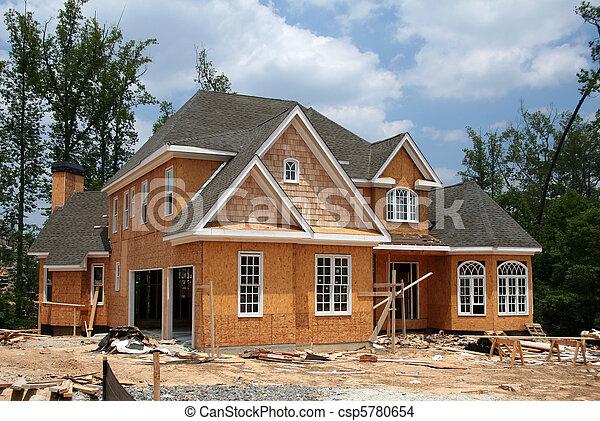 wciąż, nowy, zbudowanie, dom, pod - csp5780654