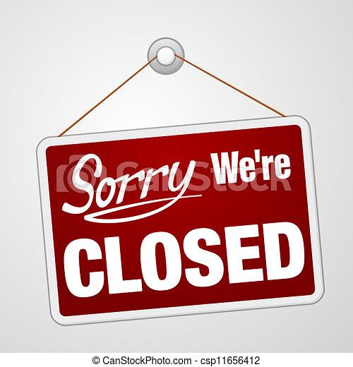 We Are Closed Sign - csp11656412
