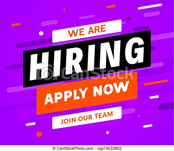 We Are Hiring Career Employee Message Background Employment Hiring Job Recruitment Concept Banner