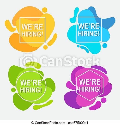 We Are Hiring Text In Abstract Fluid Background