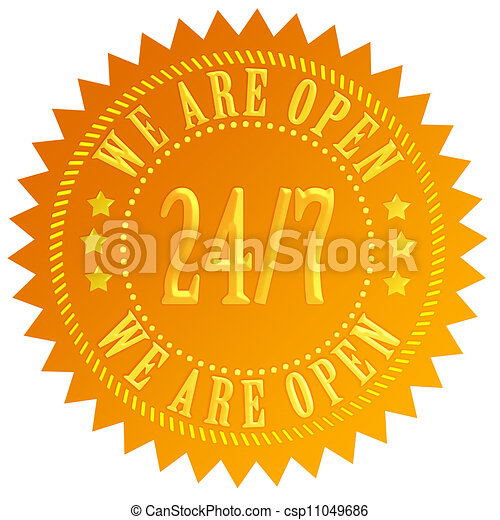 We are open 24 hour sign - csp11049686