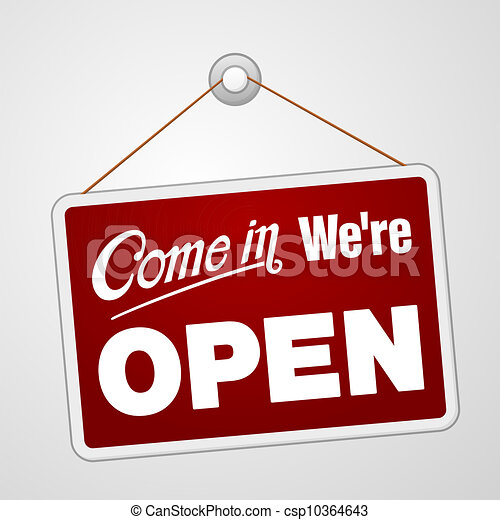 We are Open Sign - csp10364643