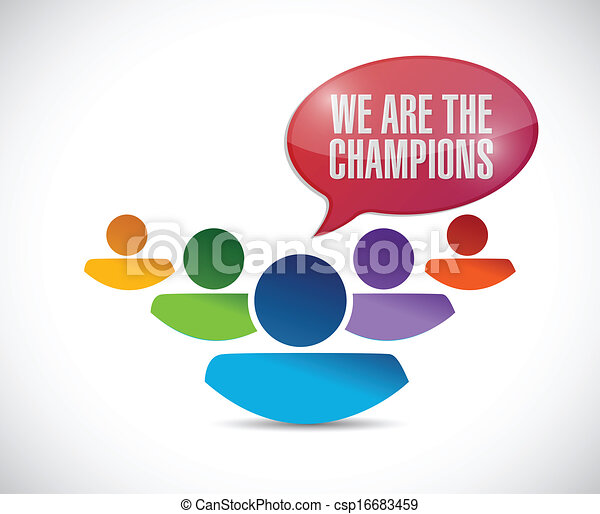 we are the champions illustration design - csp16683459