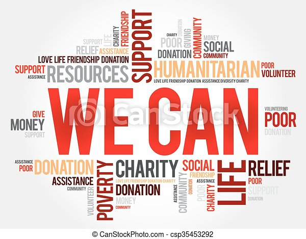 We Can, word cloud - csp35453292