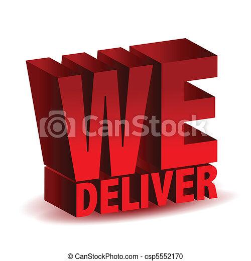 we deliver - csp5552170