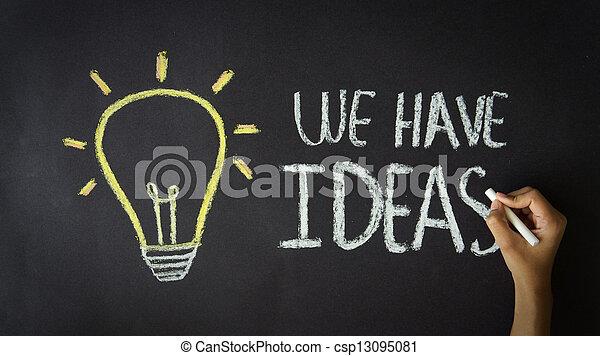 We have Ideas - csp13095081