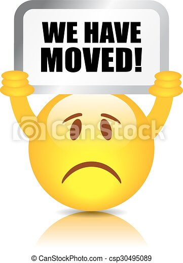We have moved sign - csp30495089