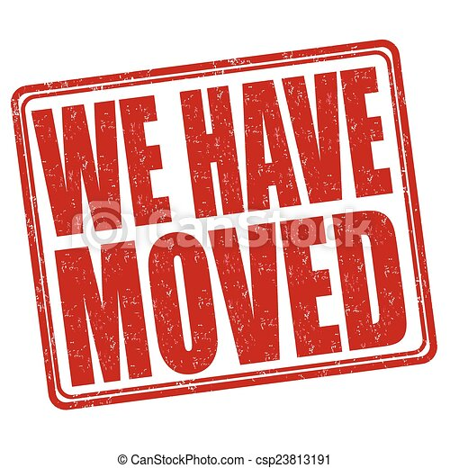 We have moved stamp - csp23813191