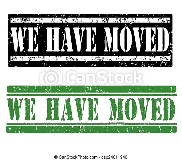 We have moved stamps - csp24611940