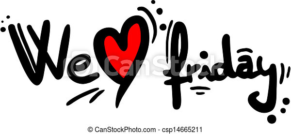 design of we love friday message vector clip art search rh canstockphoto com friday the 13th clip art free free clipart for friday the 13