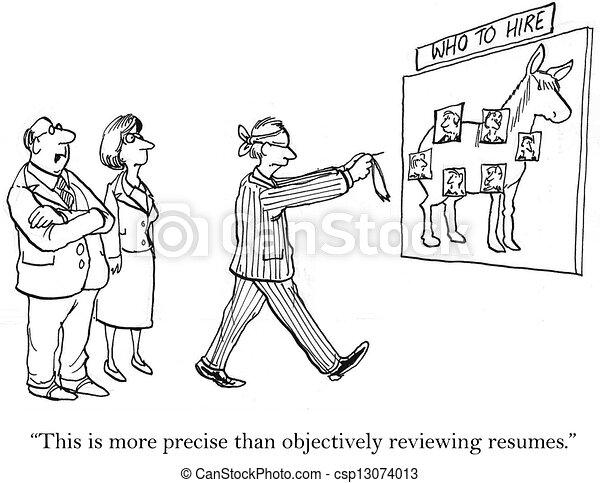 we used to review resumes but it was objective csp13074013