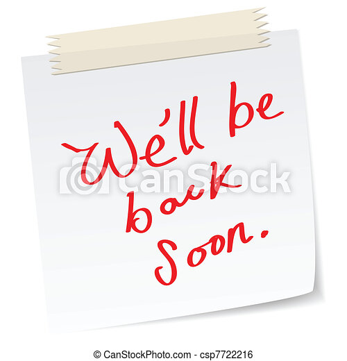 we will be back soon - csp7722216