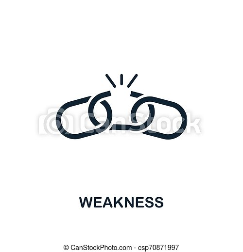 Weakness icon. Creative element design from business strategy icons collection. Pixel perfect Weakness icon for web design, apps, software, print usage - csp70871997