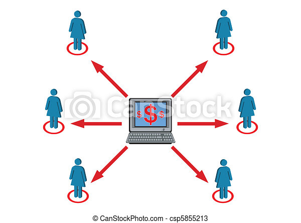 Wealth Distribution to Female Staff Illustration in Vector - csp5855213