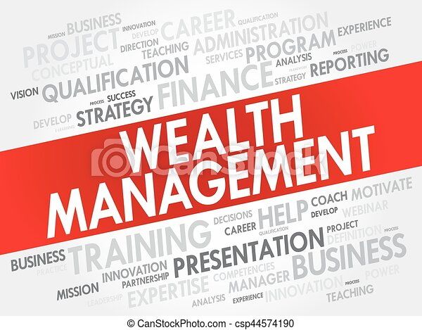 wealth management word cloud collage csp44574190 - 45 In Business Presentations All Background Artwork Should Be Experience