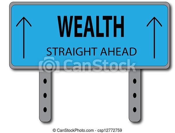 Wealth Sign Concept - csp12772759