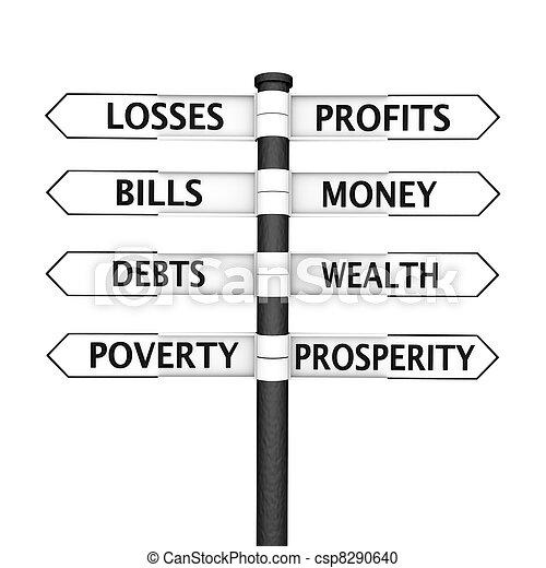 Wealth vs Poverty - csp8290640