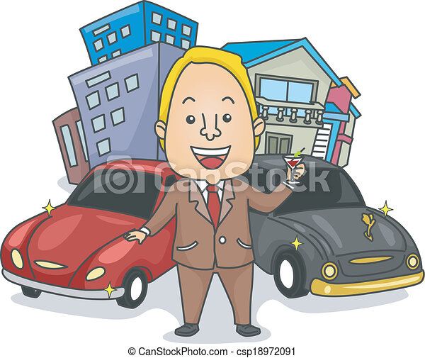 illustration of a wealthy man making a toast to his houses eps rh canstockphoto co uk Strongest Men Clip Art Gingerbread Man House Clip Art