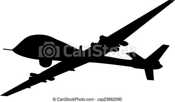 Weapon Drones Drone Flying Vector Silhouette Eps 8 Vectors