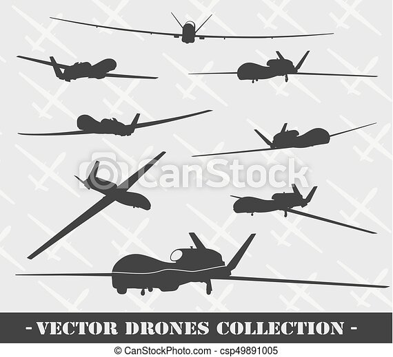 Weapon. Drones set - csp49891005