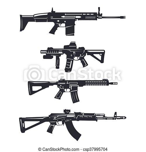 weapon rifle set - csp37995704