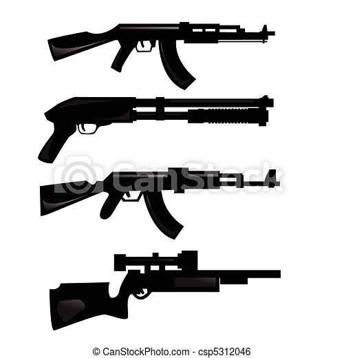 weapon silhouettes - csp5312046