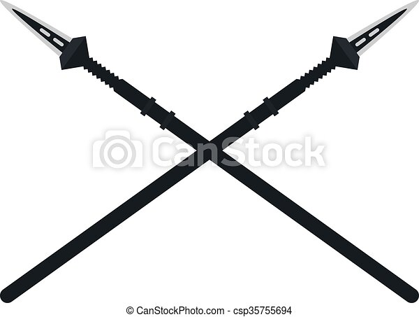 Weapon spear cartoon lance tool battle and war tool - csp35755694