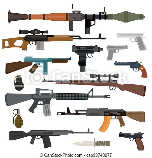 Weapons vector collection - csp33743277