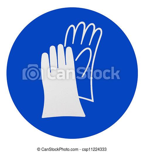 Wear Safety Gloves Sign