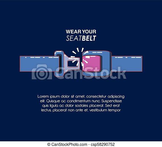 wear your seat belt - csp58290752