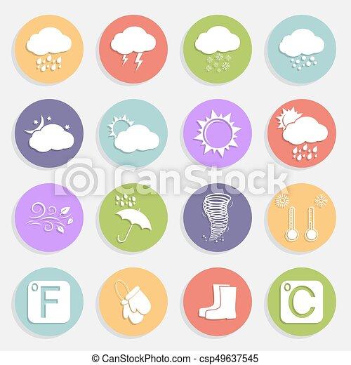 Weather flat icons - csp49637545